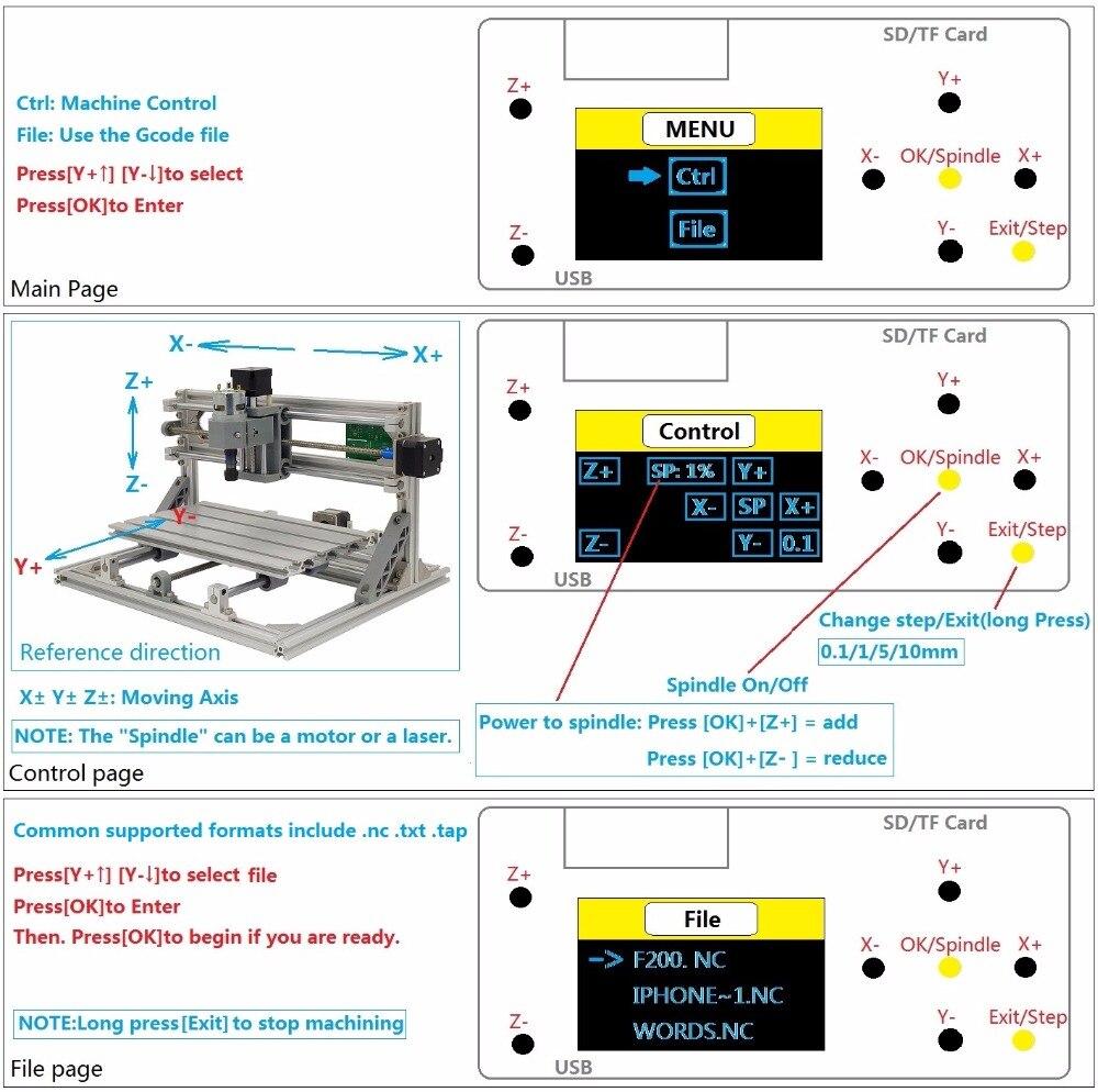 Daedalus grbl 3 eixos offline placa controlador