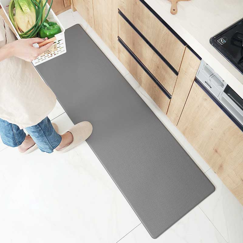 1PC PVC Kitchen Carpet Leather Long Floor Mat for Bedroom Living Room Doormats Tatami Anti Slip Waterproof Oilproof Kitchen Rugs
