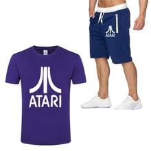 Brand Cotton t shirt Men Sets Fashion Summer cotton short sleeve Sporting Suit Tshirt +shorts Mens 2 Pieces casual clothing