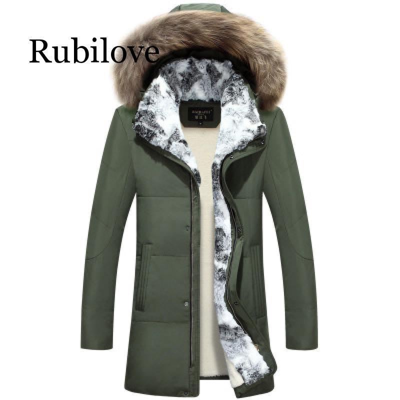 5XL blanc canard doudoune 2019 femmes hiver plume d'oie manteau longue fourrure de raton laveur Parka chaud lapin grande taille vêtements d'extérieur - 5