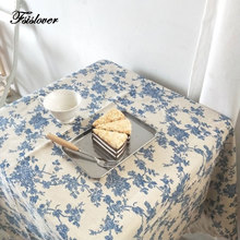 Cotton Linen Tablecloth Mantel-De-Mesa Floral FSISLOVER Obrus for Tapete Picnic Tafelkleed