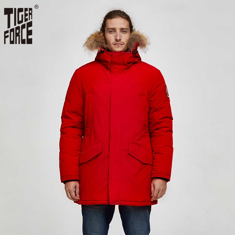 Tiger Force 2019 Alaska Parka Winter Jacket For Men Waterproof Warm Coat  With Real Fur Hooded Male Thick Snowjacket Big Pocket