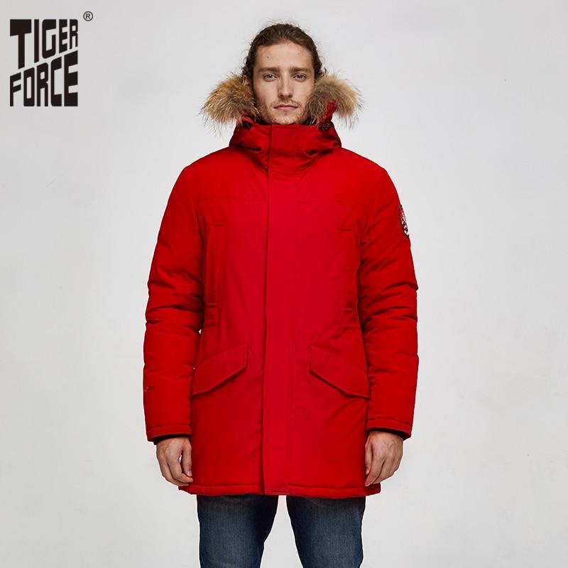 Tiger Force 2019 Alaska Parka Winter Jacket For Men Waterproof Warm Coat  With Real Fur Hooded Male Thick Snowjacket Big Pocket