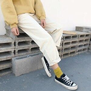 Image 5 - מכנסיים נשים 2020 מוצק פשוט כל התאמה ישר כיסי פנאי מכנסיים נשים גבוהה מותן Harajuku קוריאני מכנסיים Ulzzang שיק