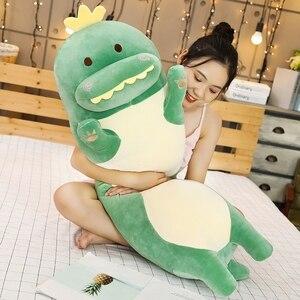 Image 2 - 1pc 70/90/120CM Cartoon zwierząt dinozaur jednorożec kot zabawki pluszowe nadziewane miękkie długie poduszka do spania lalki prezent urodzinowy dla dzieci