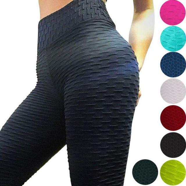 2021 Sexy Yoga Pants Fitness Sports Leggings Jacquard Sports Leggings Female Running Trousers High Waist Yoga Tight Sports Pants 1