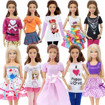5 zestaw 3 zestaw Handmade moda strój codzienna odzież bluzka koszula kamizelka dół spodnie spódnica ubrania dla Barbie Doll akcesoria tanie i dobre opinie BJDBUS Cloth CN (pochodzenie) outfits set Dziewczyny Suit Fit for 11 5 -12 Doll The dolls are not included Akcesoria dla lalek