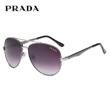 Prada 4018 Mens Polarized Aviation Alloy Frame Sunglasses Men Brand Design Pilot Male UV400 Sun Glasses
