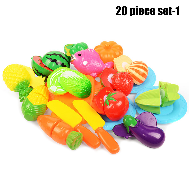 Play Fruit Kit For Kids Vegetable Set Roleplay Toddler Playhouse Game For Children M09