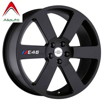 Aliauto 4 X Car Tires & Rim Sticker Decal Accessories for BMW 1 3 5 Series X1 X3 X5 X6 M3 M5 E30 E34 E36 E39 E46 E60 E90 image