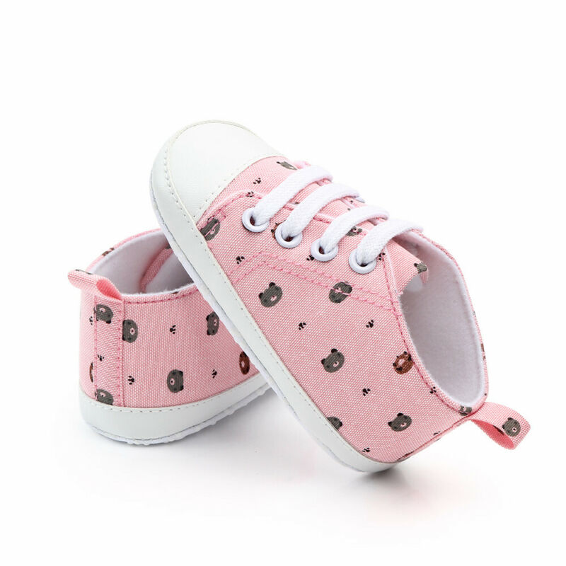3-11M Baby Boy Girl Anti-slip Soft Sole Crib Shoes Newborn Sneakers Prewalkers