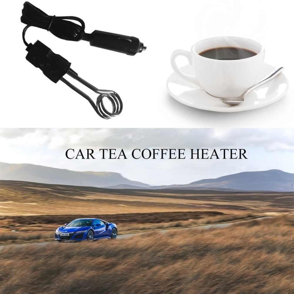 Tragbare 12/24V Auto Immersion Heizung Auto Elektrische Tee Kaffee Wasser Heizung