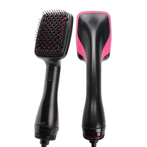 um passo secador de cabelo e volumizer secador de cabelo profissional ventilador rotativo escova de