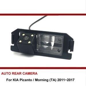 Para kia picanto/manhã (ta) 2011 ~ 2018 invertendo câmera do carro de volta para cima estacionamento câmera de visão traseira ccd noite visão
