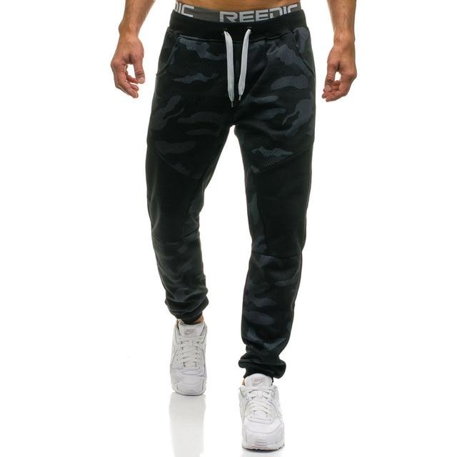 Camouflage Long Pants Men Casual Trousers Mens Loose Sport Pants Streetwear Spliced Drawstring Sweatpants Trousers Joggers Male 23