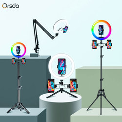 10-12 inch RGB Ring Light with stand Led Ring Light Selfie Ring Light with tripod RGB 26 colors video light For Youtube Tik Tok