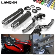 For Suzuki SV1000 Motorcycle CNC Brake Clutch Lever & 7/8 22MM Handlebar Grips SV 1000 2003 2004 2005 2006 2007 Accessories стоимость