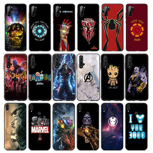 Iron Man Marvel Avengers Logo Cassa Molle Del Silicone per Huawei Honor 10 9X 9 8 8X Lite 7X 7C 7A 6A per Honor Nota 10(China)