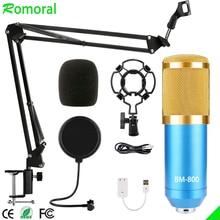 BM800 Condenser Microphone Set Computer Recording Anchor Microphone Network K Song Sound