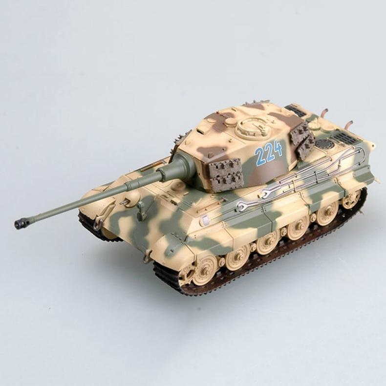 Finished Product Model Tank Model Tiger King Henschel Turret Type 1:72 Model Decoration