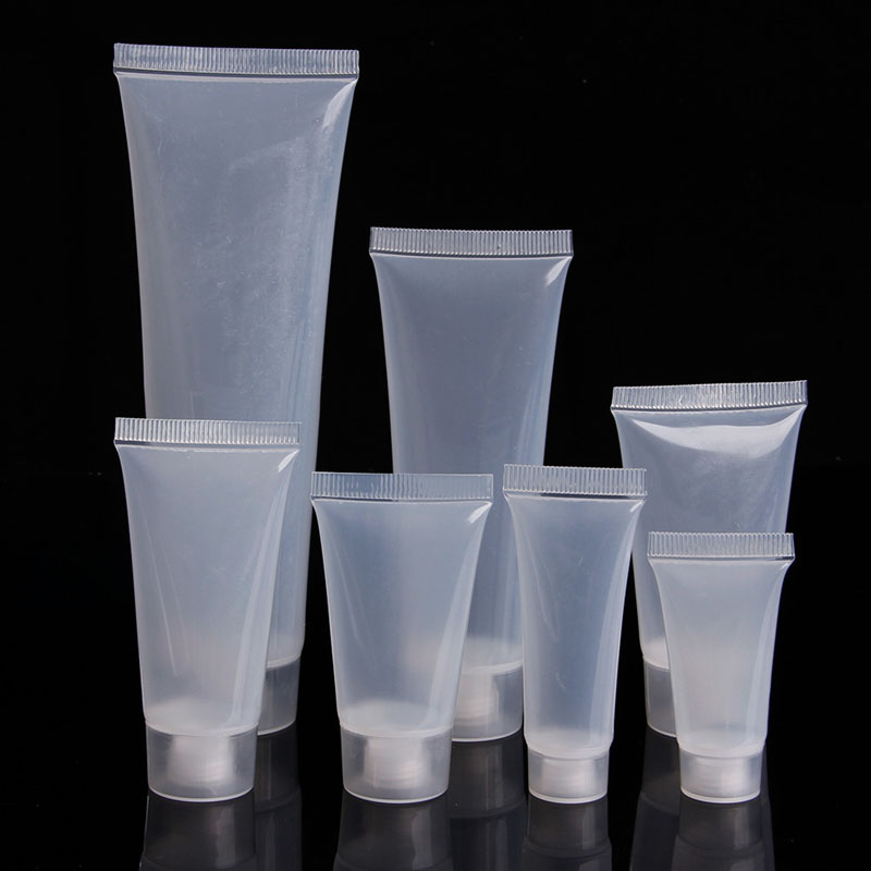 5ml 15ml 20ml 30ml 50ml 100ml Portable Polish Empty Clear Tube Cosmetic Cream Lotion Container Makeup Bottle 1pc