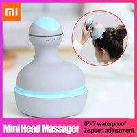 Xiaomi Mijia Mini masajeador de cabeza portátil inalámbrico Ajuste de 2 velocidades 6 masajeador de cabeza de masaje IPX7 impermeable