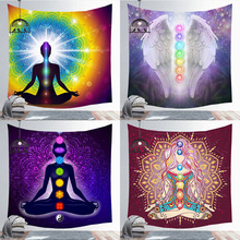 Wall-Covering Tapestry Boho-Decoration Buddha-Statue Meditation Psychedelic Yoga Bedroom