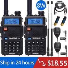 2 шт. реальная 5 Вт/8 Вт Baofeng UV-5R рация UV 5R мощная Любительская любительская радиостанция CB UV5R двухдиапазонный приемопередатчик 10 км Интерком