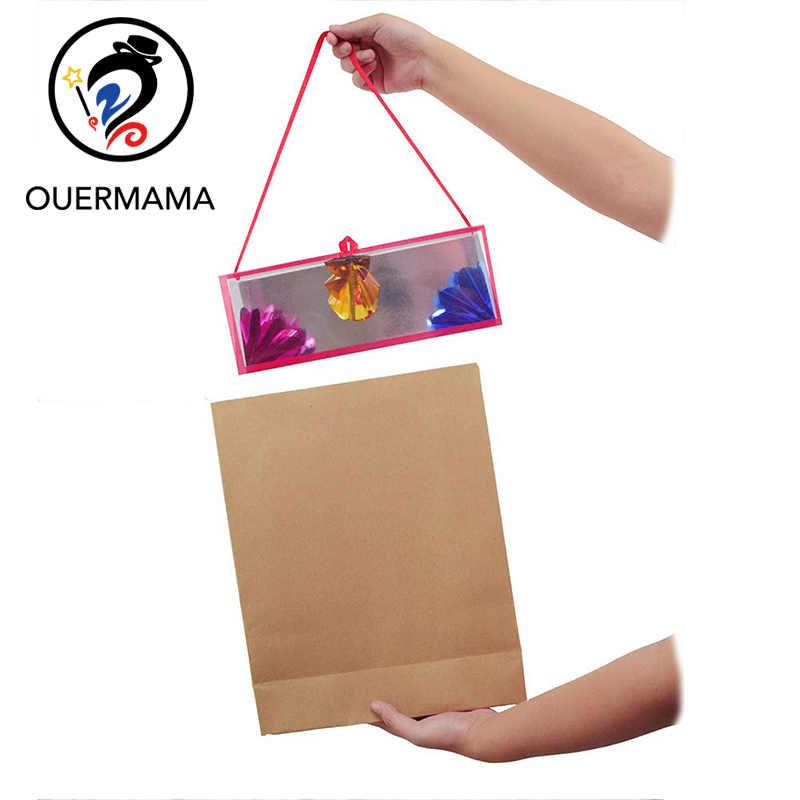 Магический бумажный пакет появляющийся Цветок коробки Волшебные трюки сценический реквизит трюк магический реквизит большой размер