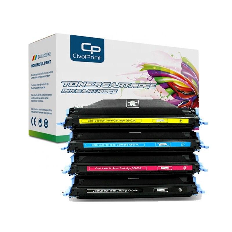 Civoprint Q6000A Q6001A Q6002A Q6003A Compatible For HP Toner Cartridge Q6000 6000a 124A Laserjet 1600 2600n 2605 2605n 2605dn