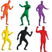 Gesikai fantasia masculina de spandex, zentai, body completo, personalizado, segunda pele, fantasia de halloween
