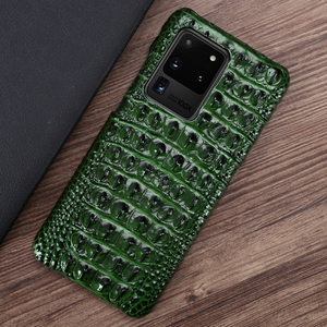 Image 5 - Leather Phone Case For Samsung S20 Ultra S10 S10e S9 S8 S7 Note 8 9 10 20 Plus A20 A30 A50 A70 A51 A71 A8 Crocodile Back Texture