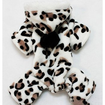 Leopard Printing Warm Pet clothes cotton puppy dogs coat winter jacket For Teddy Chihuahua Four Legs Animals Clothes image