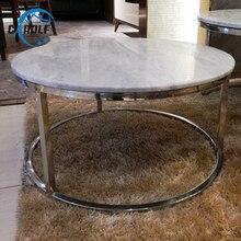 Белые мраморные металлические журнальные столы, диван для гостиной, Круглый Журнальный чайный столик, комбинированная мебель для дома