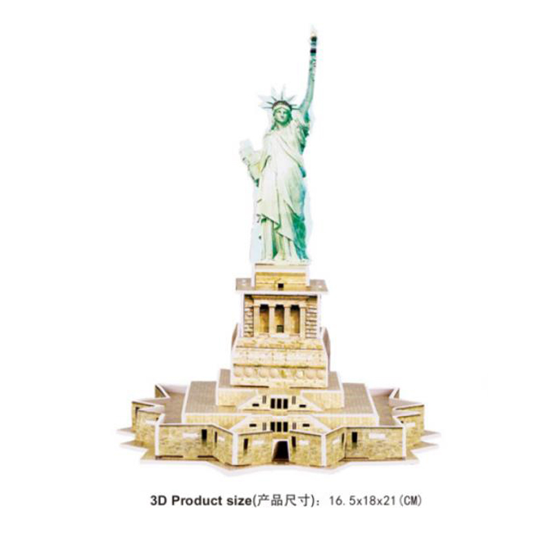 3D Puzzle World Modern Architecture Statue Of Liberty New York U.S.A Model Education Toys For Kids GIFTS