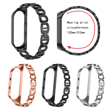 Mi band 2 3 Xiaomi Stainless Steel Metal Chain Bracelet Miband Wristband Replacement Part For Millet