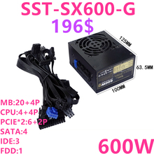 New PSU For SilverStone Brand SFX Full Modular 80plus Gold Game Mute Power Supply 600W/500W Power Supply SST SX600 G SX500 LG