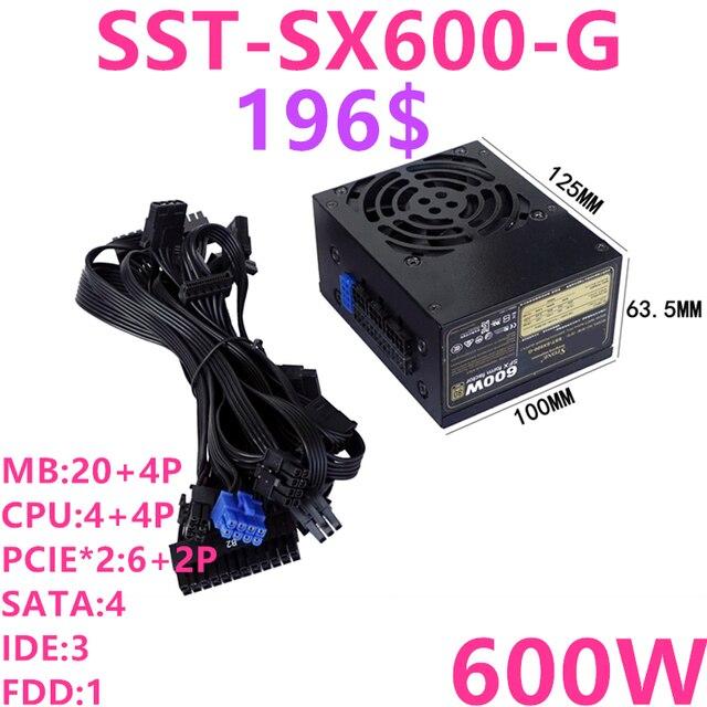 Nouveau PSU pour SilverStone marque SFX entièrement modulaire 80plus or jeu alimentation muet 600W/500W alimentation SST SX600 G SX500 LG