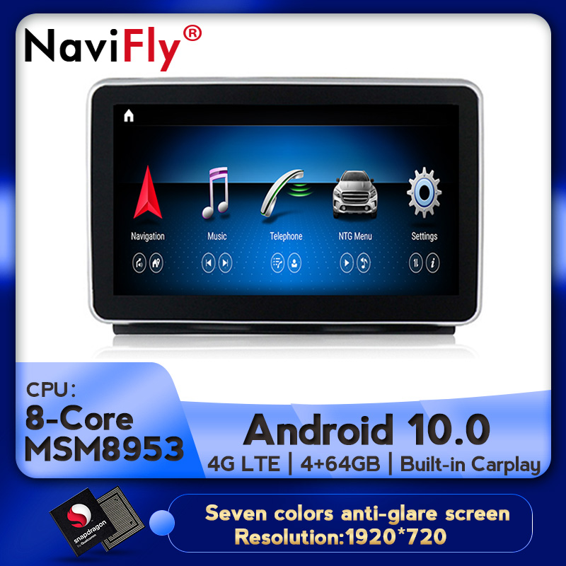 NaviFly  HD Screen Car Audio Gps Player For Benz ML W166 2012-2015 With 4G RAM Fast Running Support Original Car Information