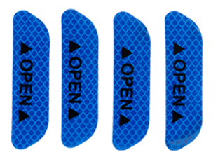 4 шт./компл. двери автомобиля стикеры сделай сам автомобиль открыть светоотрающей полосой Предупреждение отражающая открытая уведомления велосипедные аксессуары для экстерьера - Название цвета: Blue