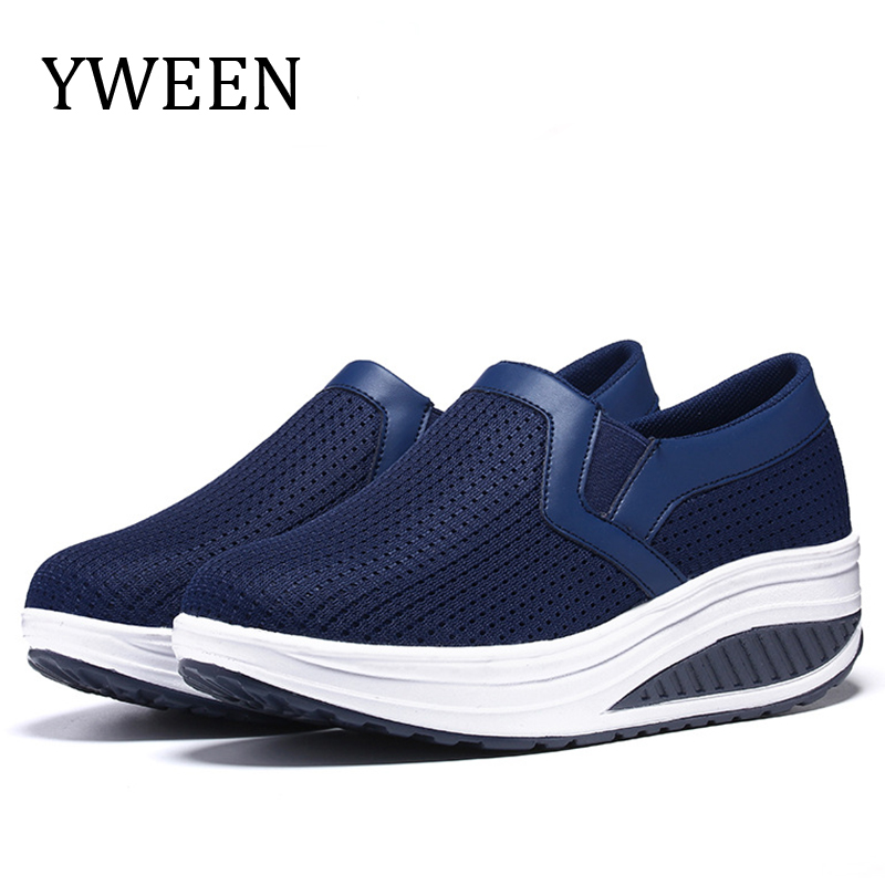 Spring Women Shoes Platform Sneakers Slip On Flats Height Increasing Summer Breathable Casual Shoes flats women sneakers