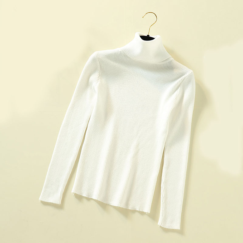 Lucyever Turtleneck Women Pullover Sweater Spring Jumper Knitted Basic Top Fashion Autumn Long Sleeve Korean Ladies Clothes 2020 6