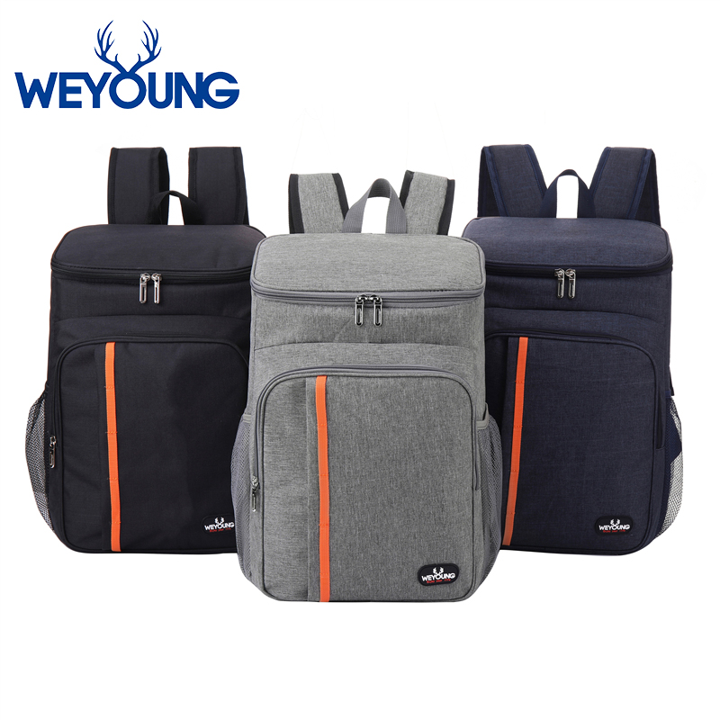 Outdoor Large Capacity Leak Proof Men Woman Thermal Insulated Cooler Shoulder Backpack Picnic Bag image