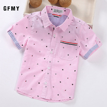 Kids Baby Boys Short Sleeved Shirts For 2-14 Years