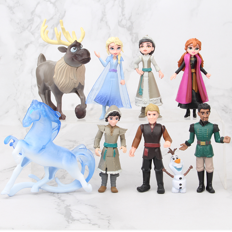 Disney Frozen 2 5 11cm 9pcs/set Anime Pvc Action Figures Princess Elsa Anna Kristoff Sven Olaf  Birthday Toys For Children Gifts|Action & Toy Figures|   - AliExpress