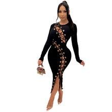 Женское ажурное платье в рубчик на шнуровке очень эластичное