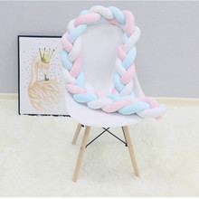 Kids Bed Bed-Bumper Cot-Protector Plush-Knot Newborn-Baby Room-Decor Pure-Weaving 3m/4m-Length