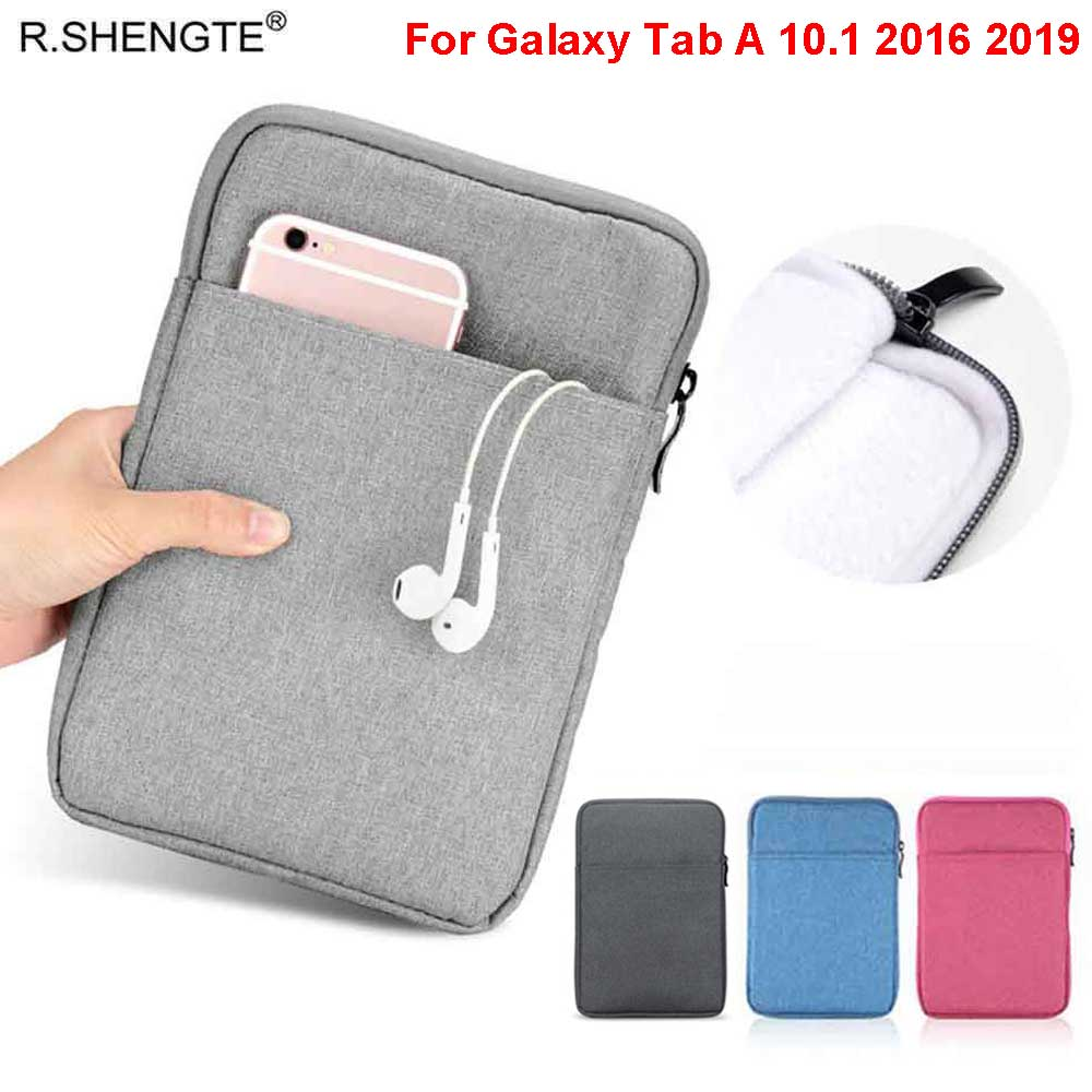 Shockproof Sleeve Case For Samsung Galaxy Tab A A6 10.1 2016 2019 SM-T580 <font><b>T585</b></font> SM-T510 T515 Soft Tablet Bags Pouch Cover Funda image