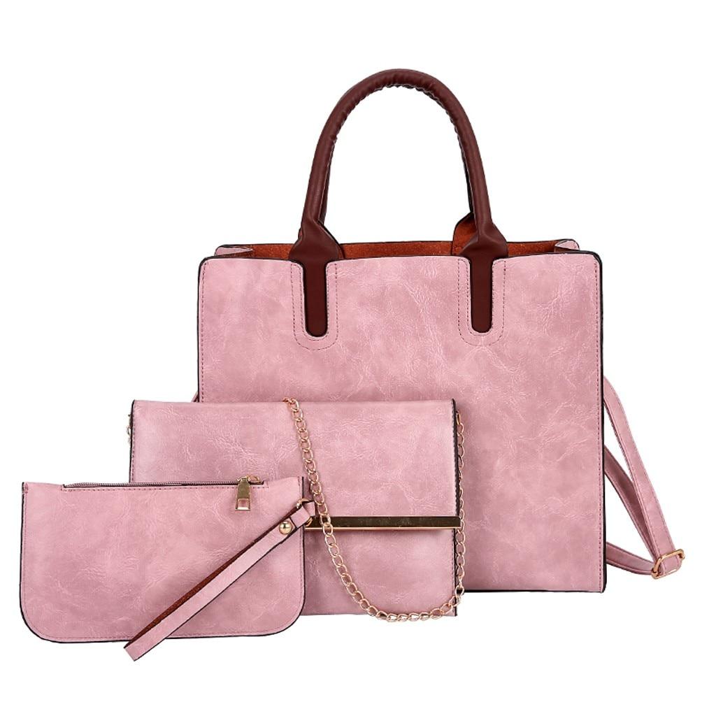 Ensemble sacs 3 pièces mode en cuir PU dames sac à main 63