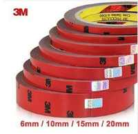 3M Double Sided Tape faced Acrylic Foam Adhesive 3 Meters Long Tape 6/10/15/20/30/40mm Auto Special Sponge Puff Glue Car-styling